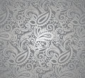 Paisley silver wallpaper Royalty Free Stock Photo