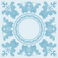 paisley square pattern in blue Royalty Free Stock Photo