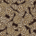 Paisley style seamless background with animal skin Royalty Free Stock Photo