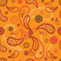 Paisley style seamless pattern Stock Photo