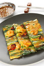 Pajeon, korean food Royalty Free Stock Image