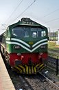 Pakistan railways diesel electric locomotive engine parked at lahore station september a with driver s main railway the Royalty Free Stock Image