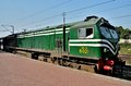 Pakistan railways diesel electric locomotive engine parked at lahore station september a with driver s main railway the Stock Image