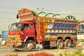 Pakistan truck design art in much like billboard painting in another indigenous form of art created in is Royalty Free Stock Photo