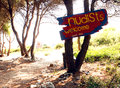 Pakleni Islands Nudist beach HVAR Croatia Royalty Free Stock Photo
