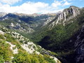 Paklenica national park scenic mountain landscape in beautiful in croatia Royalty Free Stock Photography