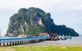 Pakmeng harbour Stock Photo