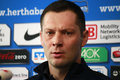 Pal dardai fbebruary berlin the new coach of football club hertha bsxc at a press conference Royalty Free Stock Photography