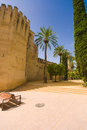 Palace alcazar christian monarchs alcazar de los reyes cristianos cordoba spain Stock Images