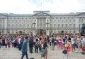 Palace buckingham london queen tourists Stock Photo
