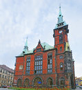 The palace with the clocktower wroclaw poland july neo gothic building of university library biblioteka uniwersytecka located on Stock Photography