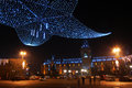 Palace of culture iasi the with season lightings for christmas Royalty Free Stock Photo