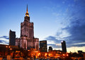 Palace of culture and science in warsaw poland city center with the tallest building the eighth tallest building the eu Royalty Free Stock Image