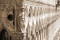 Palace Ducal - detail ( sepia ), Venice Royalty Free Stock Photos