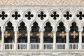 Palace ducale venice white marble columns at in Stock Images