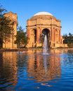 Palace of Fine Arts Lagoon at Sunrise Royalty Free Stock Images