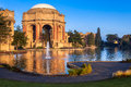 Palace of fine arts in san francisco with lagoon and fountain california Stock Images