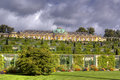 Palace and garden in Sanssouci Park in Potsdam Stock Photo