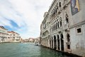 Palace on the Grand Canal in Venice Royalty Free Stock Photo