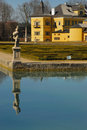 Palace Hellbrunn with pond no.1 Royalty Free Stock Photos