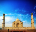 Sunset view of Taj Mahal Royalty Free Stock Photo