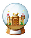 A palace inside the crystal ball illustration of on white background Royalty Free Stock Images
