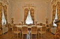 Palace interior: Dining room Royalty Free Stock Photo