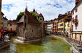 Palace of the isle palais d isle annecy france is also called old prison Stock Image
