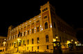 Palace of the italian parliament in rome night shot Royalty Free Stock Photos