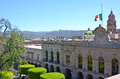 Palace of justice morelia mexico historic government building palacio de justicia in the unesco city Stock Photo