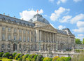 Palace of the king in center of brussels historical belgium spring calm day Stock Image
