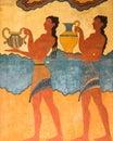 Cup Bearer Fresco Knossos Crete Greece