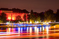 Palace of koblenz illuminated during rhine in flames Royalty Free Stock Images