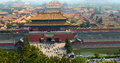 The palace museum is located on city center in peking china is existing biggest most integrity of thou building cluster it is been Stock Photos
