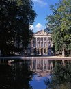 Palace of the nation brussels palais de la seen from parc de bruxelles belgium western europe Royalty Free Stock Images