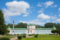 Palace in the park large stone orangery at kuskovo moscow russia Stock Photography