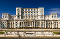 Palace parliament second largest building world built dictator ceausescu bucharest romania Royalty Free Stock Photo