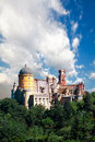 Palace of pena in sintra portugal Royalty Free Stock Images