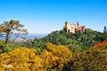 Palace of pena in sintra portugal Stock Photo