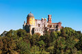 Palace of pena in sintra portugal Stock Photos