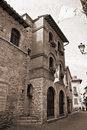 Palace of People Captain. Corciano. Umbria. Royalty Free Stock Photo