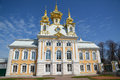 Palace in Peterhof, Russia, Saint-Petersburg. Royalty Free Stock Photo