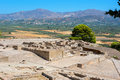 Palace of phaistos crete greece archaeological site Stock Photography