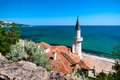 Palace of queen mary on the black sea in bulgaria photo overall plan high point shooting Stock Images