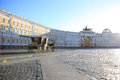 Palace square in st petersburg russia Royalty Free Stock Photography