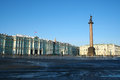 The palace square st petersburg russia central city of saint Stock Images