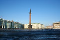 The palace square st petersburg russia central city of saint Royalty Free Stock Photo