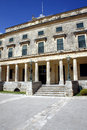 Palace of St. Michael and St. George on the island of Corfu, Stock Image