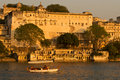 Palace udaipur india city under sunset Royalty Free Stock Photography