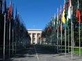Palace of United Nations, Geneva, Switzerland Stock Image